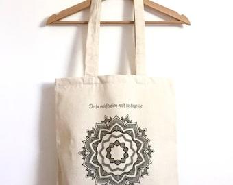 Sac / Tote-bag coton biologique / Mandala