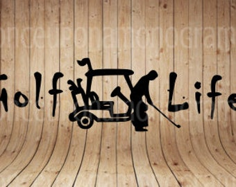 Golf Life Decal - Golf Decal - Yeti Decal - RTIC Decal - Car Decal - Tumbler Decal