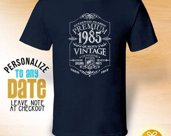 Premium Vintage since 1985, 33rd birthday gifts for Men, 33rd birthday gift, 33rd birthday tshirt, gift for 33rd Birthday ,