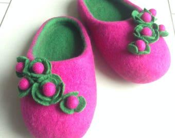 Felt slippers for girls Gr. 31 (19 cm)