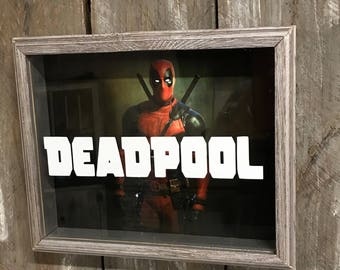 Deadpool Shadow Box - Superhero - Birthday Gift - Father's Day Gift