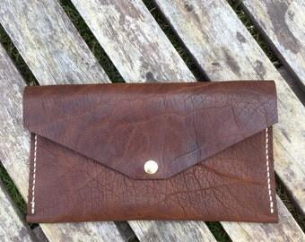 Envelope Clutch - Bison Leather