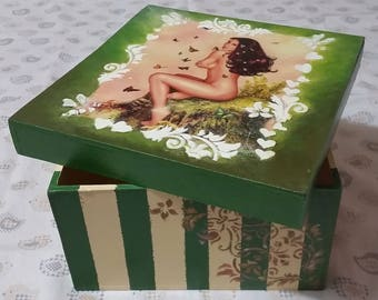 cute and colorful wooden box
