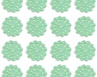 Set Of 16 Crocheted Doilies Crochet Medallions Assortment Mini Doily Boho Crafts Flower Dream Catcher Decorative Tea Time Coaster Home Decor