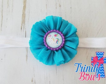 Unicorn Headband - Rainbow Headband - Blue Headband - Girl Headband - Simple Headband