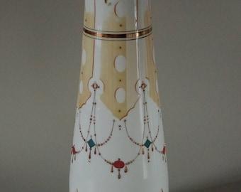 Antique Renaissance Revival Bristol Painted Vase
