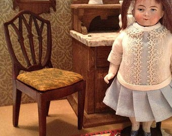 Vintage Miniature Wooden Sheraton Doll Side Chair-Large Scale (1:6)