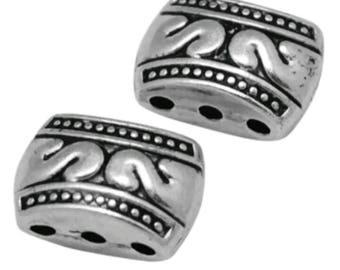 Tibettan 3 strand connectors spacer beads (wl85a)