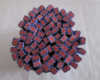 cane polymer clay English flag / Union jack