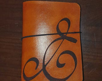 Ampersand Leather Traveler's Notebook / Leather Fauxdori / Book cover / Bujo cover