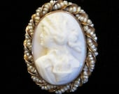 10K Cameo Brooch or Penda...