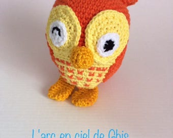 Hand-made plush or plush OWL crochet amigurumi.
