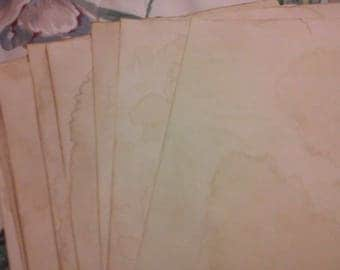 Coffee Stained Paper; Antiqued paper; Journal paper; Vintage paper