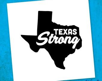 Texas Strong Sticker - Texas Tumbler Decal - Texas Gift - Yeti, RTIC Tumbler - Wine Glass Sticker  - Laptop - Car Sticker
