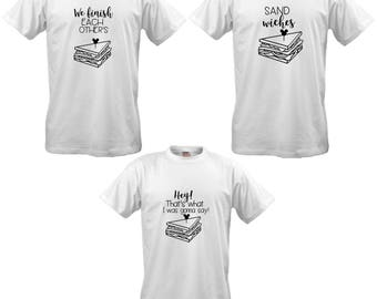 We Finish Each Other's Sandwiches Frozen Quote Group Tshirt