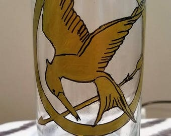Large Hunger Games Mockingjay Candle