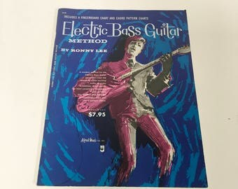 1966 Electric Bass Guitar Method by RONNY LEE sheet music How to Play vintage
