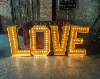 large love letters large marquee letters cardboard marquee letters paper wedding letters - Marquee Letter Lights