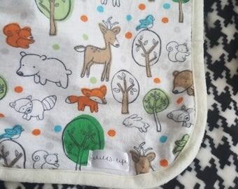Baby boy blanket/Boy baby blanket/toddler blanket/deer blanket/minky boy baby blanket/wild animal boy blanket/carseat blanket/bear/racoon