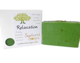 Relaxation Shea Magic Luxury Soap - 4 oz, homemade soap, shea butter, coconut oil, bar soap, best seller, gift for her, gift for him