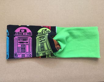 Star Wars R2d2 headband, workout gear, running gear, yoga headband