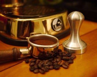 Espresso Tamper Brushed Solid aluminum Base 49 mm Europiccola Cremina etc