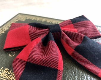 Buffalo Plaid Hair Bows - Buffalo Plaid Bows - Girls Hair Bows - Sailor Bows - Baby Headband Bows - Baby Bows - Girls Bows - Hair Bows
