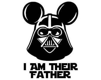 I Am Their Father .svg file for Cricut and Silhouette