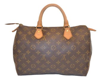"Authentic Louis Vuitton Monogram Speedy 30 Handbag Purse in Brown 90's Vintage - ""GUC""  (SALE - 73% Off)"