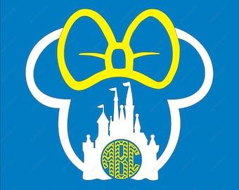 Disney Castle SVG Minnie SVG Monogram SVG Dxf Eps Png Ai for Cricut Silhouette Digital File design Print Mug Shirt Decal Minnie svg