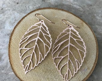 Rosegold Leaf Earring