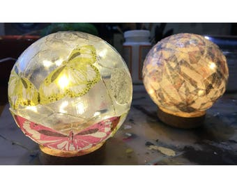 Decoupage Globe Lights.