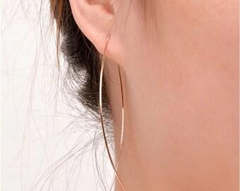 Crisscross fine fish earrings