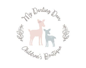Premade Logo Small Business Branding Photography Logo Deer Logo Boutique Logo