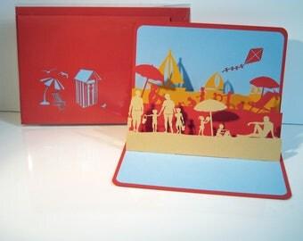 """card Kirigami """"Beach"""" Ref: 16 05 05"""