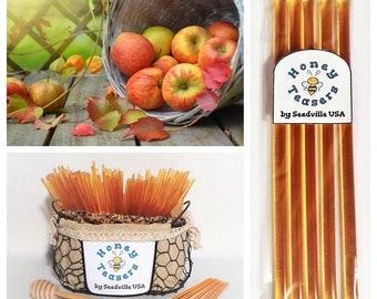 5 Pack APPLE HONEY TEASERS Natural Honey Snack Sticks Honeystix Straws