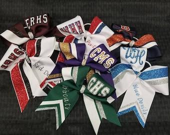 School Spirit Cheerleading Football Basketball Bow - Free Shipping!