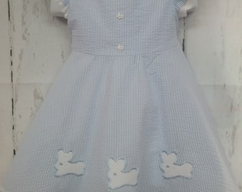Easter Dress Full Skirt with applique
