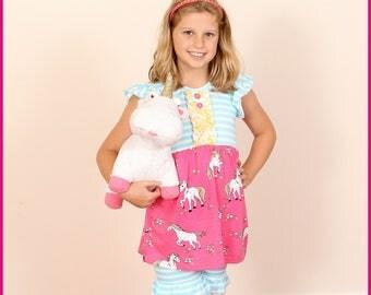Girls Ruffle Outfit-Unicorn Love