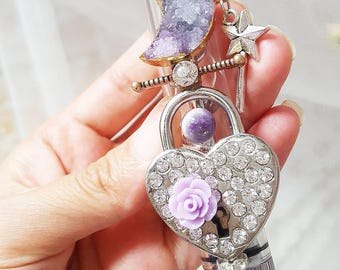 Purple Autumn Crystallized Twisty Glass Smoking Pipe