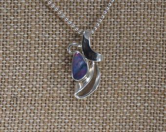 Handmade Sterling Silver Opal Pendant