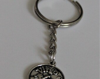 Virgo Key Chain - Zodiac Sign