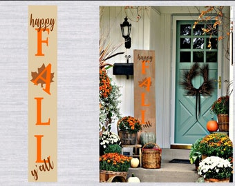 Happy Fall Y'all Svg, DIY Fall Porch Sign, Fall Svg, Thanksgiving svg, Autumn Svg, Fall Sign Svg, Cutting File, SVG Cricut, silhouette