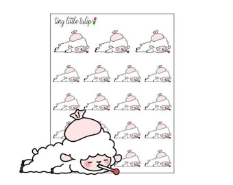 Planner Stickers Lamb Sick Day 2