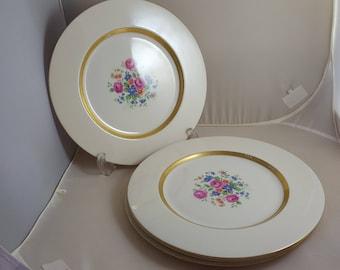 4 Theodore Haviland Gainsborough Dinner Plates