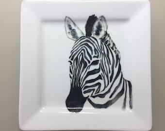 Handsome Zebra Trinket Tray