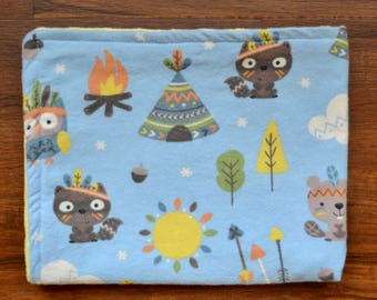 Camping Animals Lovey: animal security blanket, baby gift, baby shower gift, baby girl gift, baby boy gift, gender-neutral baby gift