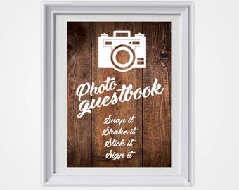 Wedding Photo Guestbook, Country Wedding, Rustic Wedding, Rustic Wedding Sign, Photo Guestbook, Wedding Sign, Wedding Decor