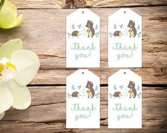 Baby shower tags, baby shower favors, baby shower, favor tags, party tags, thank you tags, party favor tags, printable tags