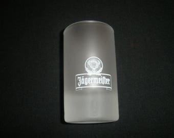 "SOUVENIR Shot Glass 3 1/2"" JAGERMEIFTER Frosted Shot Glass-NICE!"